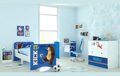 Комод Polini kids Fun 3290 Маша и Медведь, синий