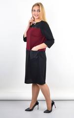 Єсенія. Оригінальне плаття великих розмірів. Бордо.
