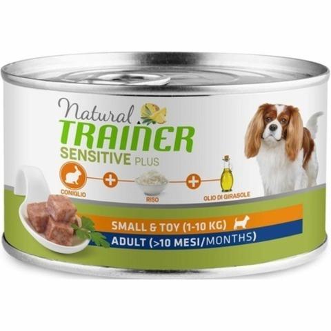 Trainer Natural Sensitive Plus Mini Adult влажный корм для собак мелких пород с кроликом и рисом - 150 г