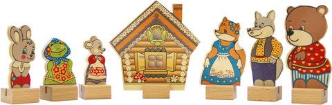 Краснокамская игрушка набор персонажи сказки Теремок
