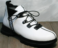 Белые ботинки женские Ripka 146White