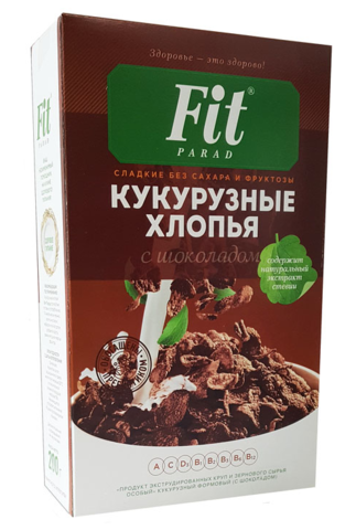 Фитпарад Хлопья кукурузные с шоколадом 200 гр