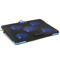 Подставка для ноутбука Crown, охлажд, до 19.0, 5 вент, ч/син, CMLS-131