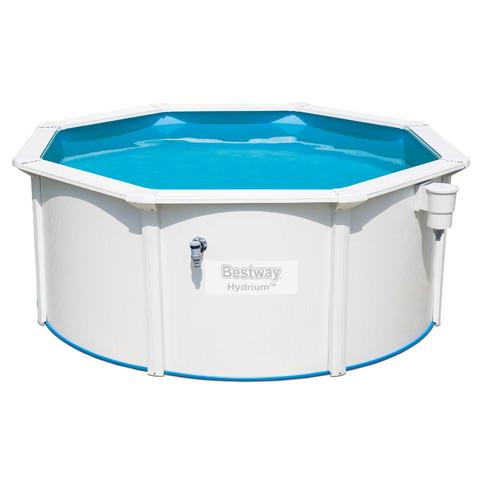 Сборный круглый бассейн Bestway Hydrium 56566 (300x120 см) с песочным фильтром, лестницей и тентом / 15835