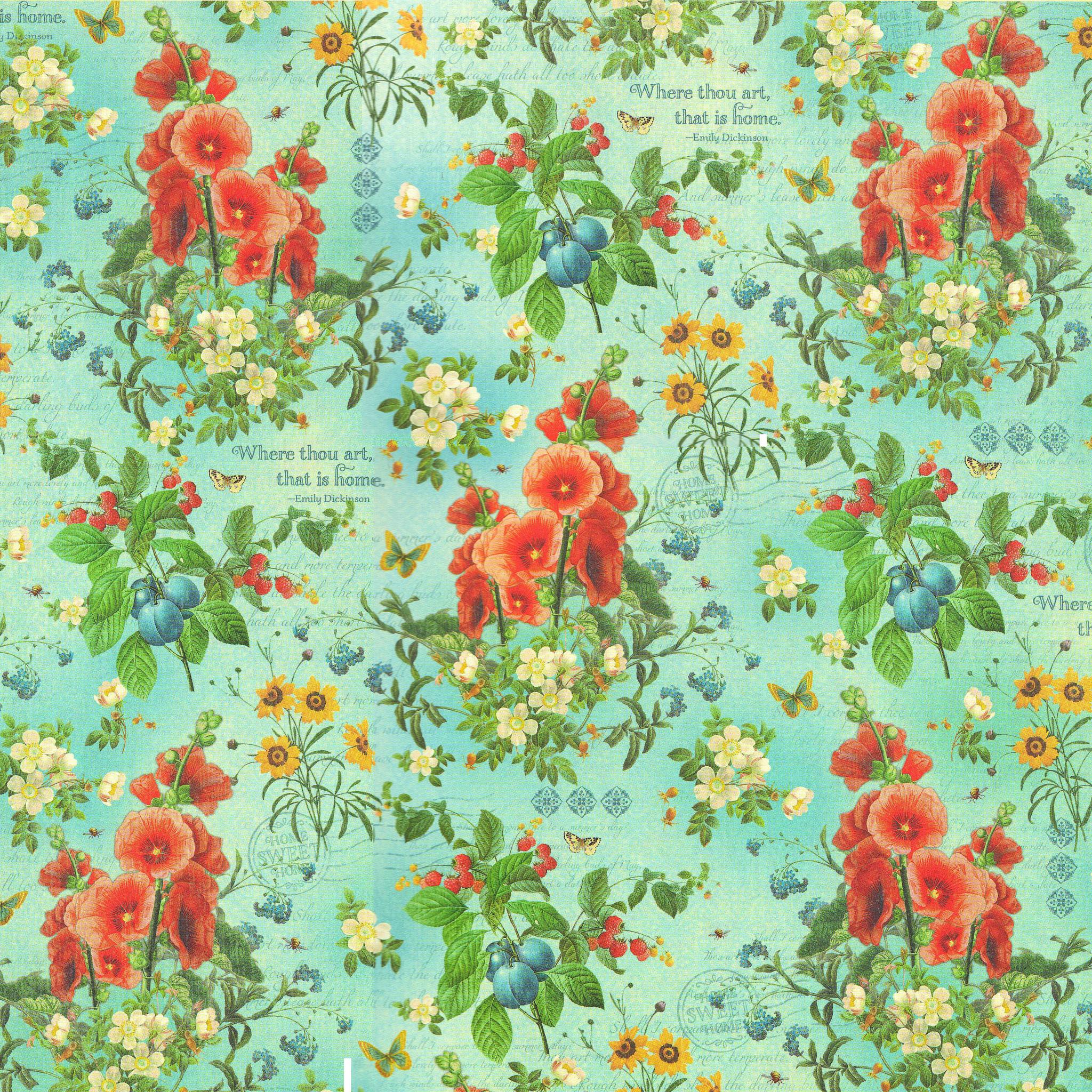 Бумага для скрапбукинга Garden Fresh Graphic45
