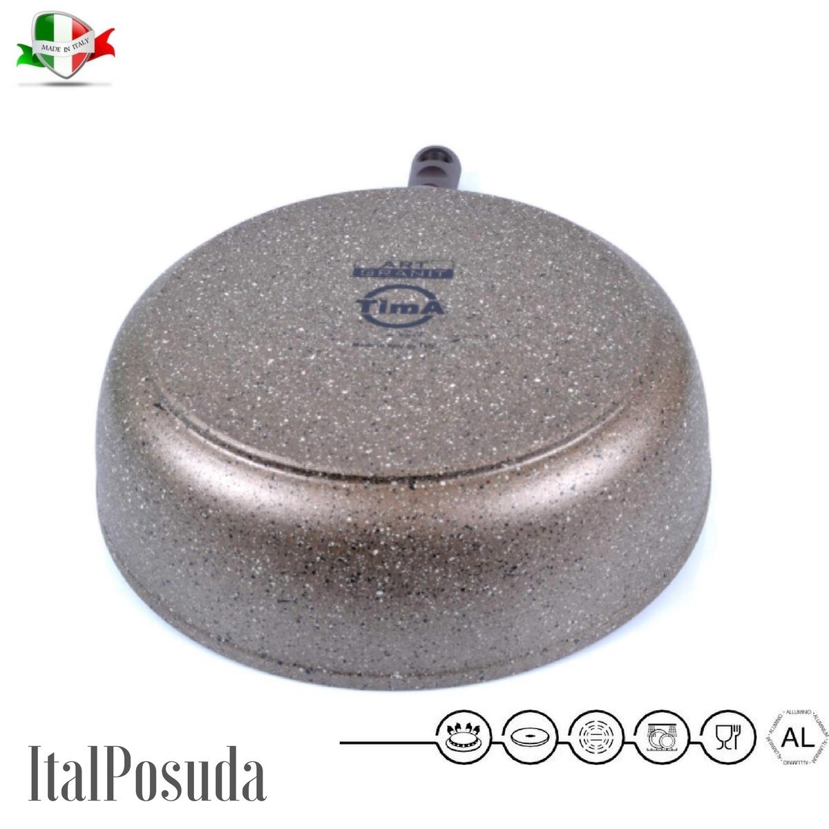 Сотейник со съёмной ручкой TIMA Art Granit, 24 см www.Ital-Posuda.ru