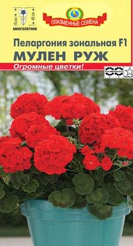 Семена Пеларгония Мулен Руж F1 зональная, Мнг