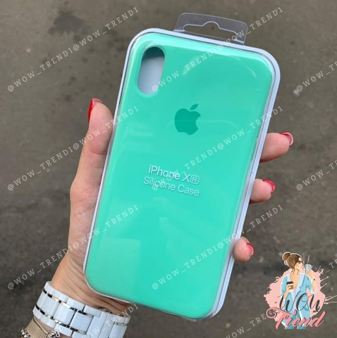 Чехол iPhone XR Silicone Case /spearmint/