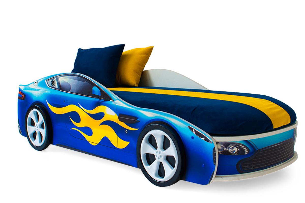 Кровать-машина «Бондмобиль синий»
