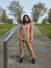 Спортивный костюм женский модный теплый с капюшоном nadya