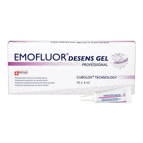 ЭМОФЛУОР Защитный гель для чувствительных зубов «ДЕСЕНС» Emofluor Dr.Wild, 10 х 3 мл