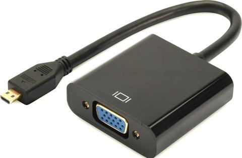 Кабель-переходник Micro HDMI-VGA Конвертер Micro hdmi vga, переходник Micro HDMI to VGA (от Micro HDMI на VGA)