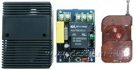 Выключатель дистанционный 1-канальный на радиочастоте RC-1-220-30A-L