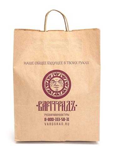 Пакет крафтовый  «Наше общее будущее в твоих руках» лого 35х45