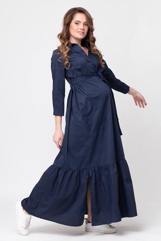 Платье для беременных 10343 темно-синий