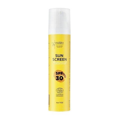 Солнцезащитный крем для лица и тела Sun Screen SPF30 100 мл | mi&ko