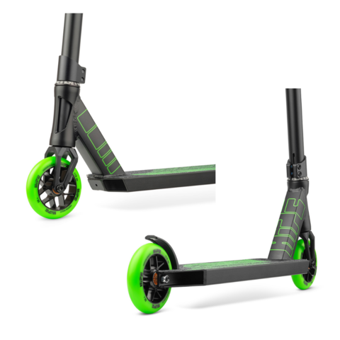 Трюковой самокат H10 black/green 2021