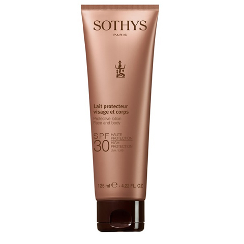 Sothys Protecting Sun Care: Эмульсия с SPF30 для лица и тела (Protective Lotion Face And Body SPF30 High Protection UVA/UVB)