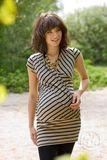 Блузка для беременных и кормящих 01143 чёрный