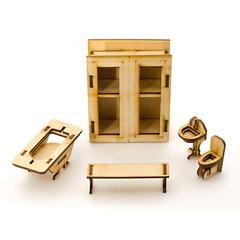 Кукольная сборная мебель из фанеры