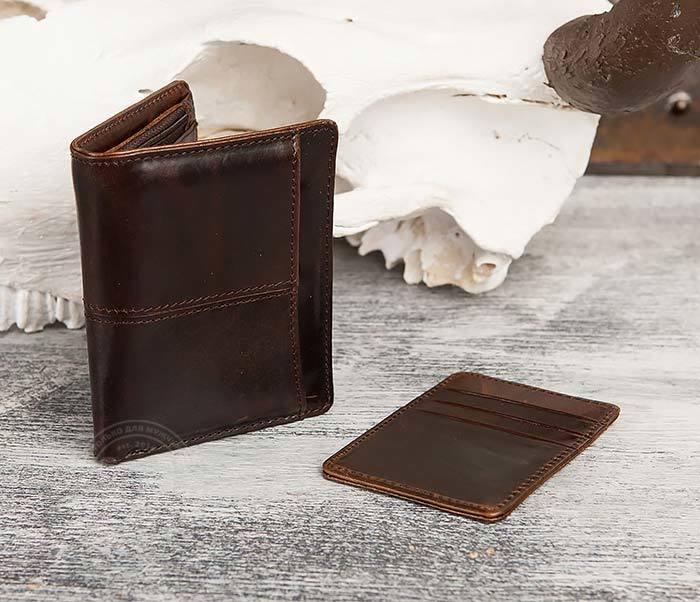 WL297-2 Классическое мужское портмоне со съемным кардхолдером фото 03