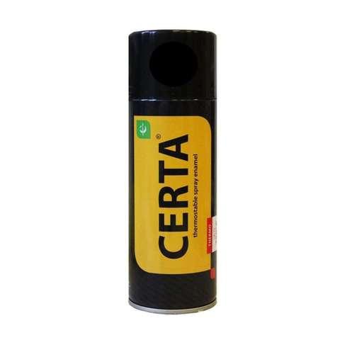 Термостойкая эмаль ЦЕРТА черная  до 900 °C 520 мл