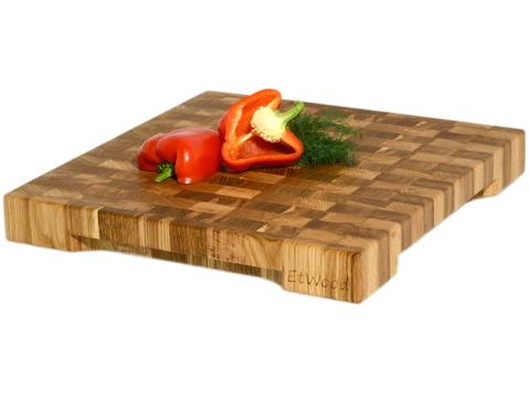 деревянная  Торцевая разделочная доска 40x40x5 см. дуб