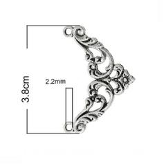 Уголок металлический мини, 3*3, 1 шт.