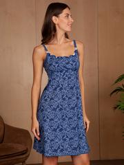 Vivamama. Сорочка для беременных и кормящих Victory, джинс вид 2