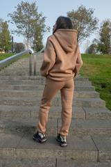 Спортивный костюм женский модный теплый с капюшоном купить