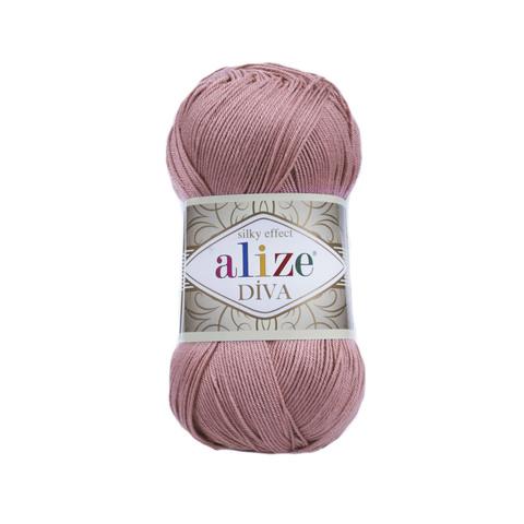 Пряжа Alize Diva 354 пыльная роза