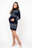Платье для беременных и кормящих 07897 синий