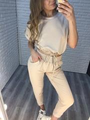трикотажный летний спортивный костюм женский nadya
