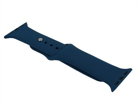 Ремешок для Apple Watch 38mm/40mm силиконовый | океанический синий