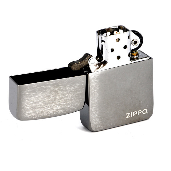 Зажигалка Zippo №24485 (1941Replica) с покрытием Black Matte, латунь/сталь, чёрная, матовая, 36x12x5