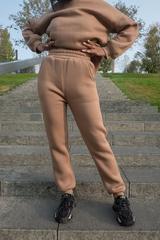 Спортивный костюм женский модный теплый с капюшоном недорого