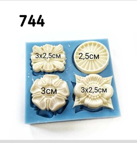 Молд 4 накладки, Арт.PO-0744, силикон