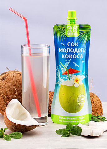Сок Молодого Кокоса (Кокосовая вода) без сахара, 250 г