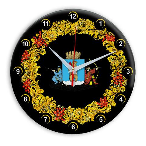 Часы в стиле Хохлома сувенирные Анадырь