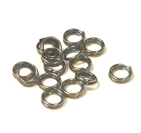 Кольцо двойное 5 мм темный металл цена за 25 шт