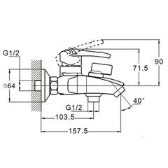 Фото размеры смеситель для ванной Zegor SWF3-A113