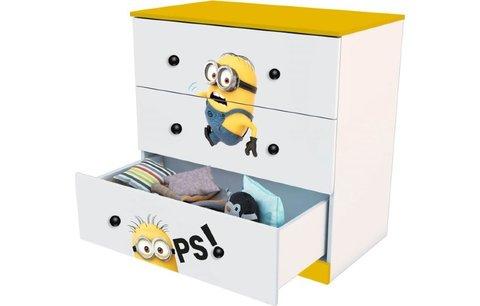 Комод Polini kids Fun 3290 Миньоны, желтый