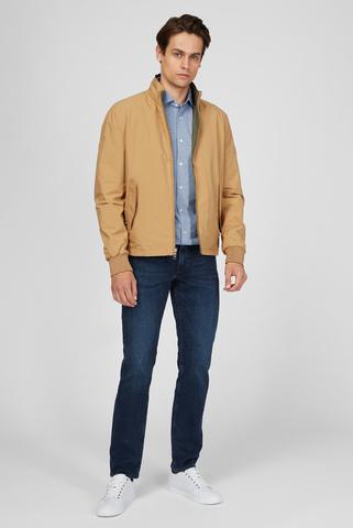 Мужская синяя рубашка SINGLE JERSEY HOUNDSTOOTH SHIRT Tommy Hilfiger