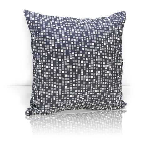 Подушка декоративная из двустороннего жаккарда Домино насыщенный серый