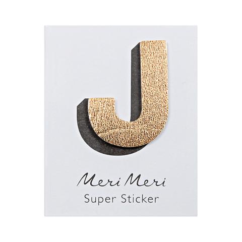Стикер из кожзама J
