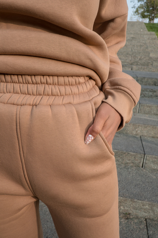 Спортивный костюм женский модный теплый с капюшоном оптом