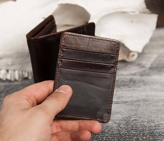 WL297-2 Классическое мужское портмоне со съемным кардхолдером фото 04