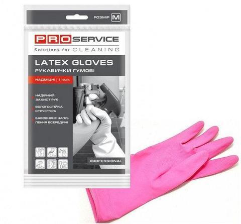 Pro Перчатки универсальные латексные Professional розовые