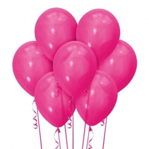 Воздушные шары с гелием фуксия