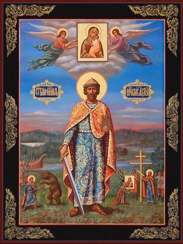 Икона святой Ярослав Мудрый на дереве на левкасе мастерская Иконный Дом